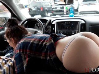 Sloppy Car Blowjob - LJFOREPLAY