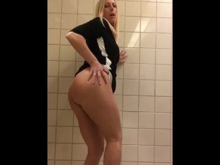 Masturbating in the men's room!