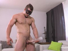 """Cute Muscle French Canadian Boy, Uncut 9"""" Dick & His Fleshlight"""