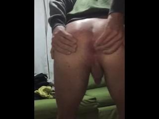 Jugando con mi culo