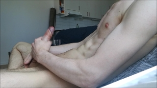 Big hard jerkning cock and off home my alone big load young cumshot