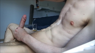 Hard my jerkning home cock and big alone off big load nude wanking