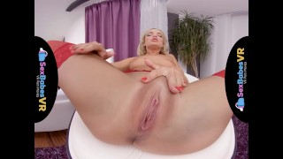 SexBabesVR - Red Stockings with Victoria Pure Busty big