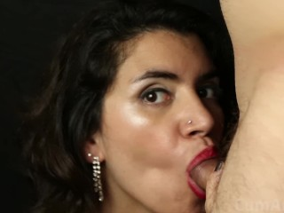 After party Blowjob + facial – In HD!