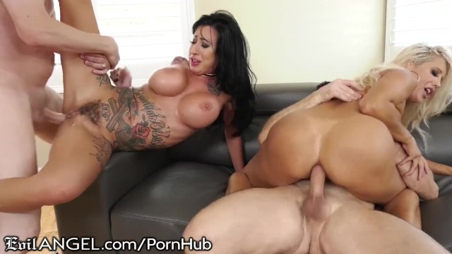 Horny Wives Plot Anal Wife-Swap Surprise For Pervy -2182