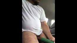 DaddyQuickie Stops To Vacuum His Car And Puts His Thick Cock In The Sucker