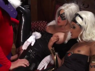 Vivid.com - 3 Super Villains have a nasty threesome