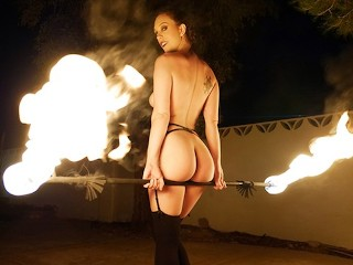 TeamSkeet - Master Fire Spinner With Fat Ass Deep Throats Cock