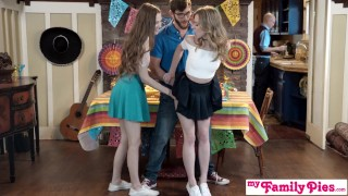 Step Sis And Teen Friend Sneak Fuck At Cinco De Mayo Party S2:E5  step siblings big cock small tits anya olsen young hardcore cock sucking pawg 3some teenager group family porn step brother samantha hayes natural tits myfamilypies step sister