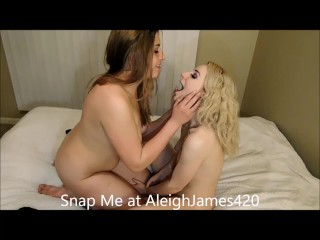 Aleigha James Swaps Spit and Kisses Girl Friend