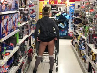 TRYING SHOES NO UNDER WEAR SHORT SKIRT BUBBLE BUTT WALMART ADVENTURES!