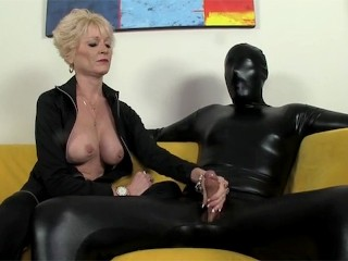 The big titted granny keeps everything in control...