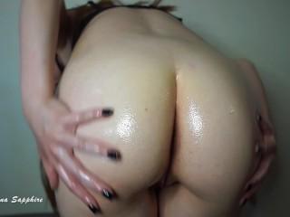 Oil soaked ass joi oily booty femdom jerk...