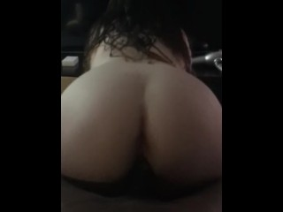 Making my juicy pussy wet sitting on big black dick