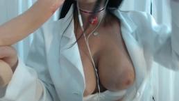 ASMR RolePlay Medica tocando punheta para voce