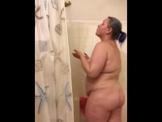Bbw in the shower