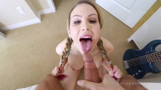 Pull My Pigtails BJ n Facial with Katie Banks
