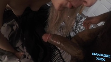 Hard Fuck Makes Hot Blonde Squirt All Over His BBC Then Facial POV 4K