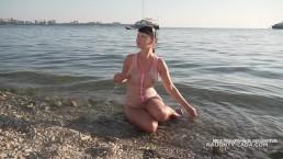 One-piece transparent swimsuit