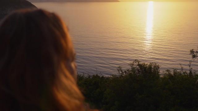 Sunset Ginger Blowjob  Redhead Girl Sucking Cock to Cum at Sunset Beach 15