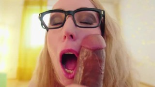 Candy May - HUGE COCK SLOPPY BLOWJOB