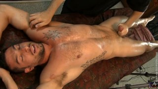 Max's pants fall to the floor & he starts jacking his Colombian cock Straight twink