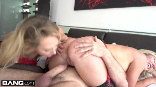 Brett Rossi & Carter Cruise fuck in RAW threesome sex tape