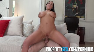 PropertySex - Sex addict tenant with big tits fucks landlord  big ass point of view angela white landlord whooty stripping funny australian blowjob thick propertysex dsl tenant eviction pawg brunette big boobs natural tits huge tits