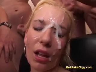 her first rough bukkake party