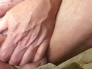 Masturbating with sex toy...
