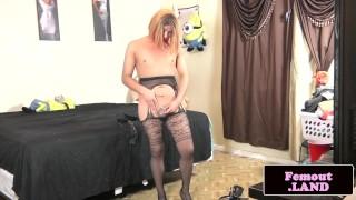 Teasing trap dildoing her tight asshole Amateur masturbation