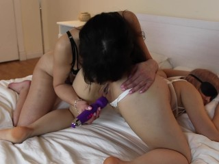 Preview 5 of Passionate Interracial lesbians fucking in sexy lingerie