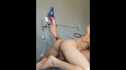 Black girlfriend loves my Puerto rican cock