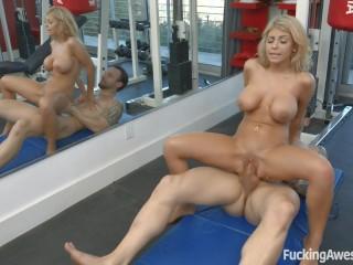 FuckingAwesome - Kayla Kayden fucks with the personal trainer