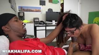 MIA KHALIFA - I Suck The QB's Big Black Cock While His Friend Watches porno