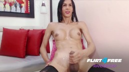 Nata Rose on Flirt4Free Transgender - Hot TGirl Twerks Her Big Ass and Cock