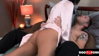 Son cums inside step mom