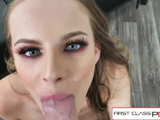 FirstClassPOV – Teen Jillian Janson take a monster cock in her throat