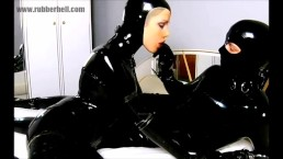 latex catsuits couple on webcam