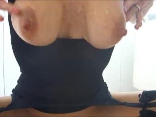 HE COMES SO FAST IN MY TIGHT TEEN PUSSY WATCHING PORN AND MY BIG BOOBS