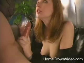 Sexy deepthroats a long cock...