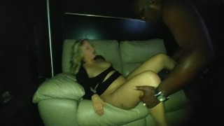 First Time Being Shared  butt amateur wife sharing hotwife cuckold theater black slut wife