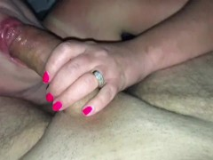 BEST POV chocolate deep blowjob footjob with rough cowgirl sex milf orgasm