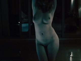 Ginger dancing naked in the rain redheaded tits...