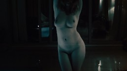 Ginger Dancing Naked in the Rain | Redheaded Girl with Big Natural Tits