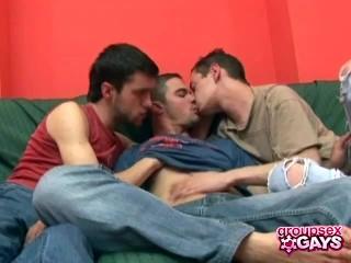 Sensual Oral Gay Threesome