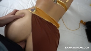 Slave fucked ass her leia get's costume of