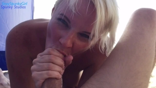 People See Me Suck Cock At The Nude Beach Natural pov