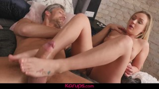 Karups - MILF Amber Deen Fucks Her Spying Roomate After Masturbating