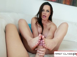 FirstClassPOV - Dana DeArmond take a monster cock in her throat, big boobs
